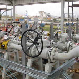 Posicion de valvulas y estacion de medida en Huelva