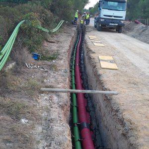 Construccion Linea subterranea San Marti - Alcudia 66 kV
