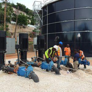 Sustitucion y mejora de las estaciones de bombeo en la ciudad de Kingston