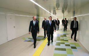 Acto de inauguración de la nueva estación de la Línea 2 del Metro de Tbilisi, Georgia