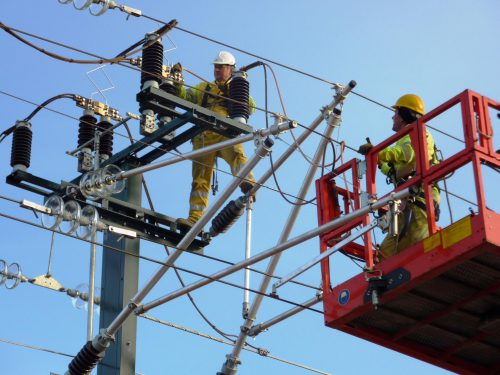 Manta Electrica Zaragoza.Overhead Power Line High Speed Lines Madrid Zaragoza Barcelona